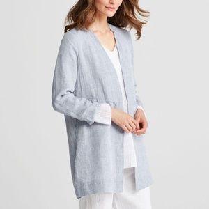 Eileen Fisher Yard-dyed Handkerchief Linen Jacket